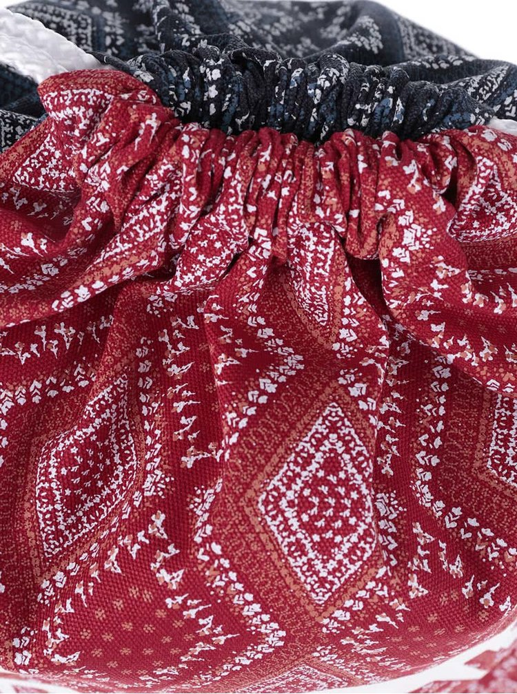 Rucsac roșu-albastru Vans Bandana Chili cu imprimeu pentru femei