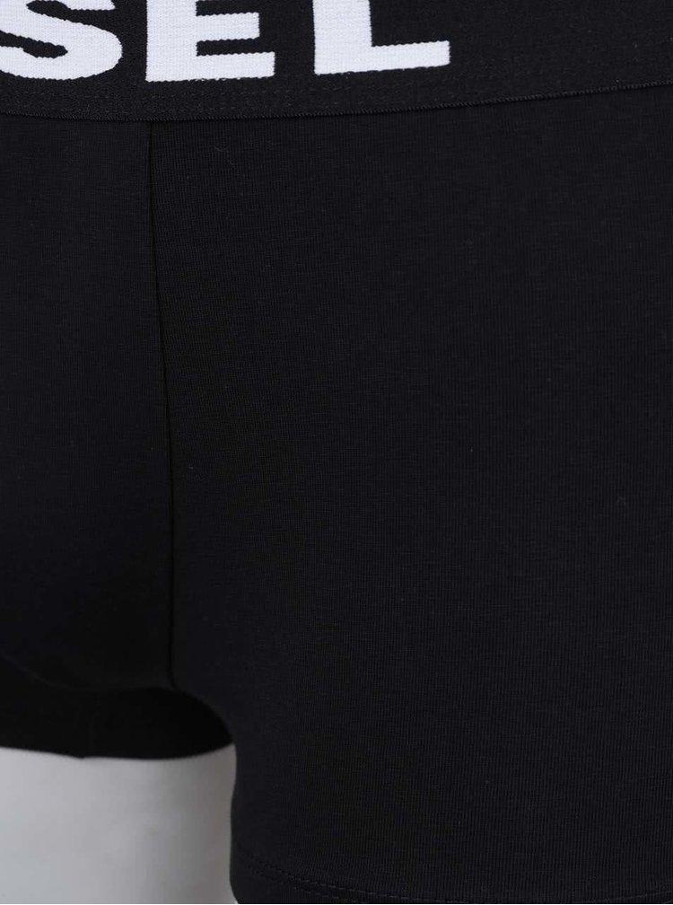 Súprava dvoch boxeriek v bielej a čiernej farbe Diesel