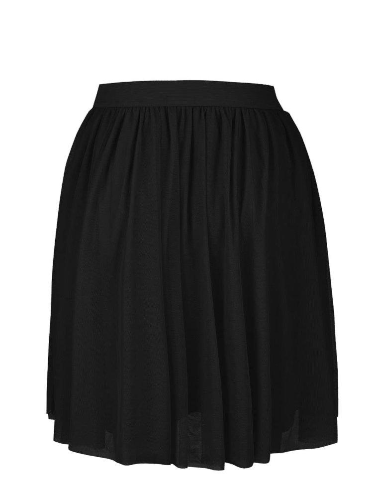 Čierna tylová sukňa VILA Rokas