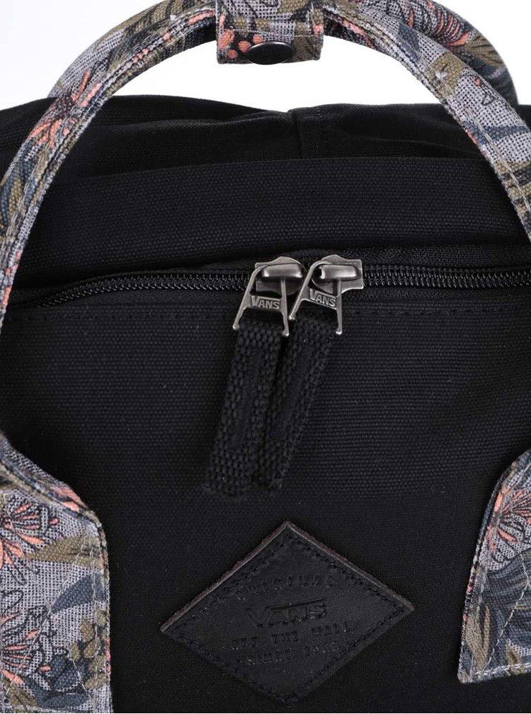 Čierny dámsky batoh s tropickým vzorom Vans Icono Square