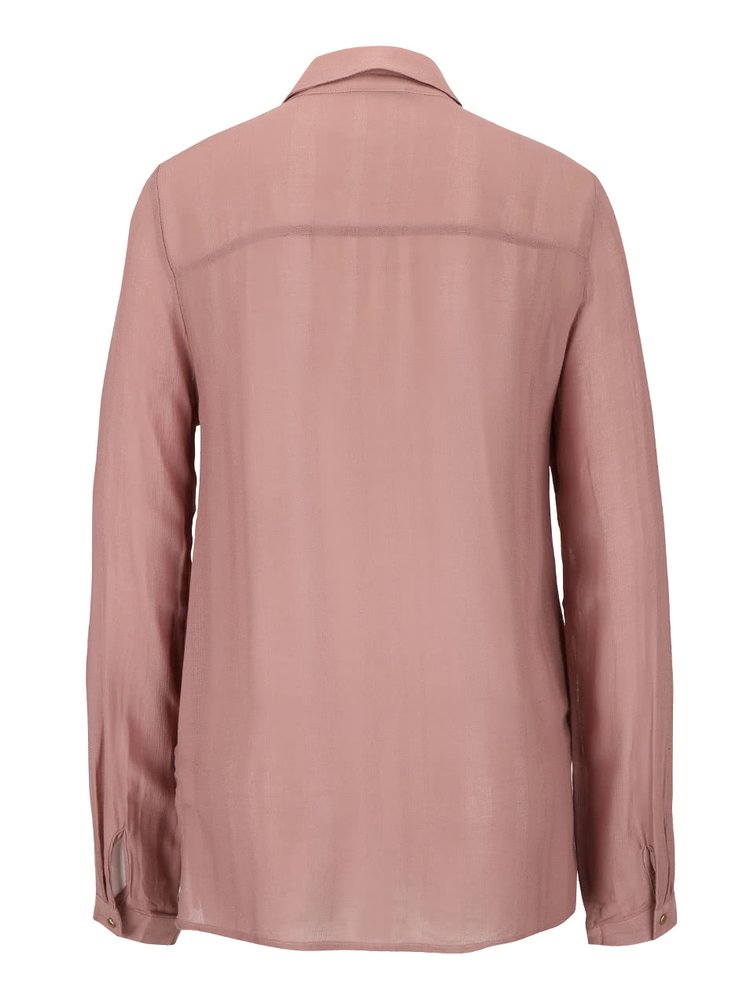 Hnedoružová košeľa s dlhým rukávom VILA Port