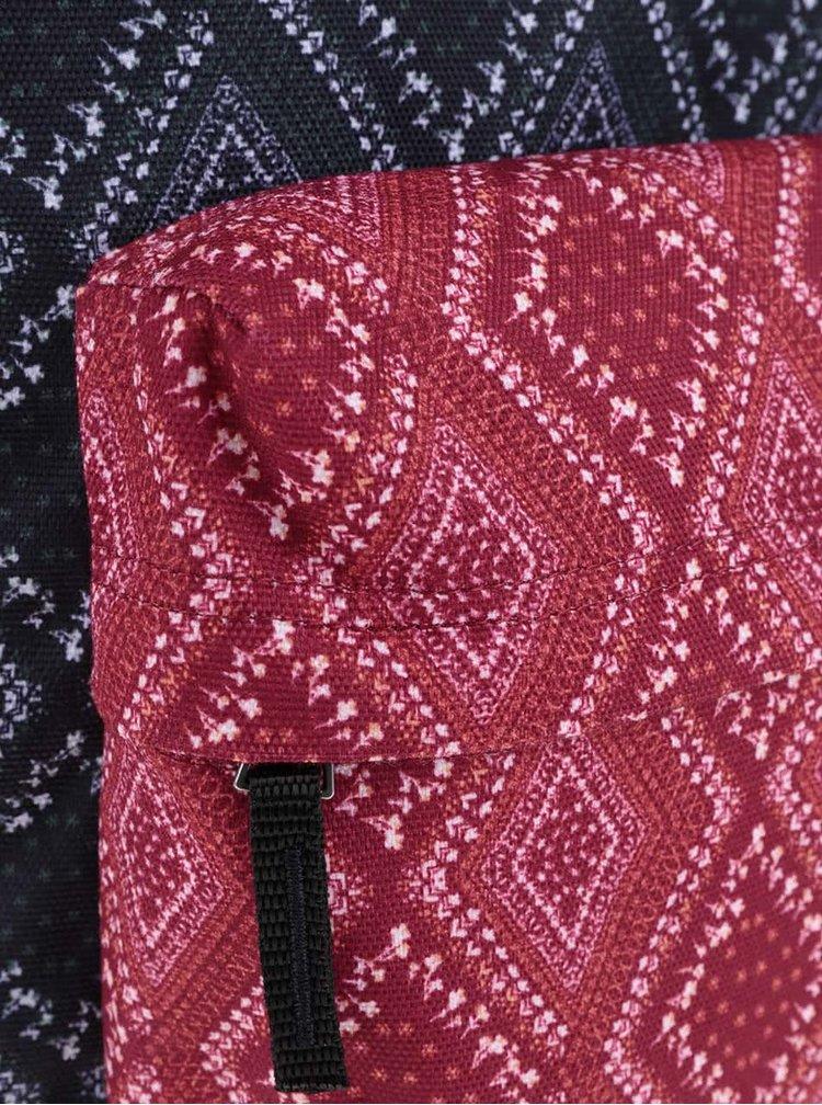 Modro-červený dámsky vzorovaný batoh Vans Bandana CHili