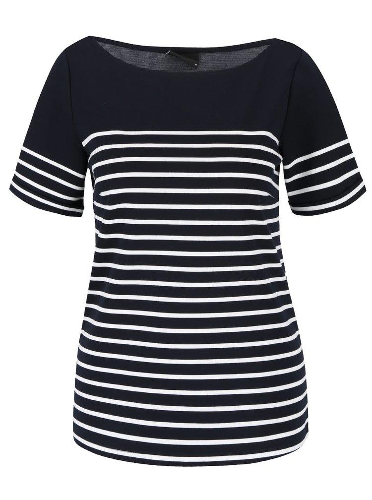 Krémovo-modré pruhované tričko VILA Tinny