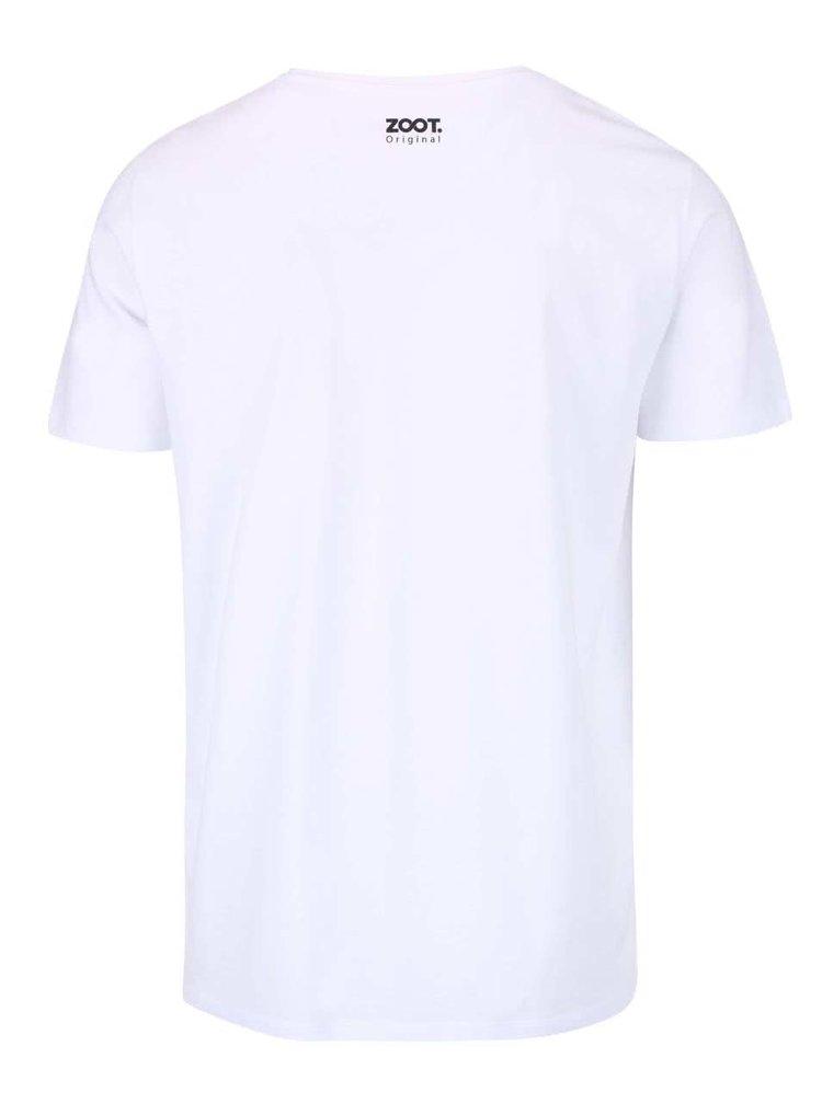 Bílé pánské triko ZOOT Originál Knír