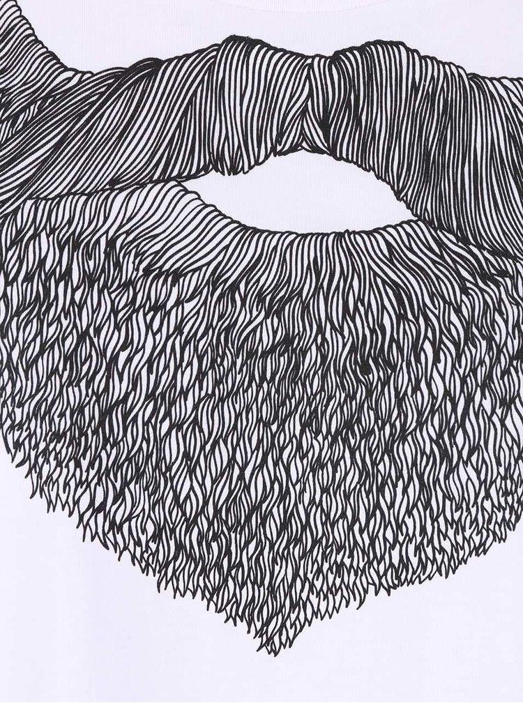 Tricou alb ZOOT Original Beard de barbati