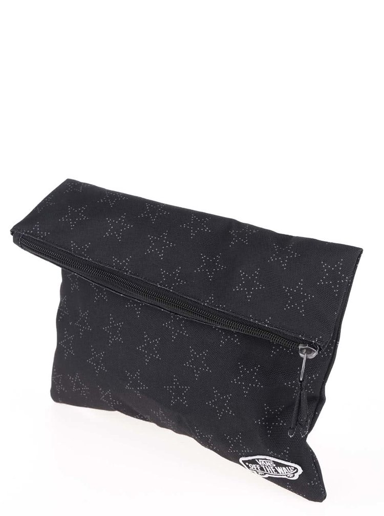 Černá kosmetická taštička s motivem hvězd Vans Stonewall