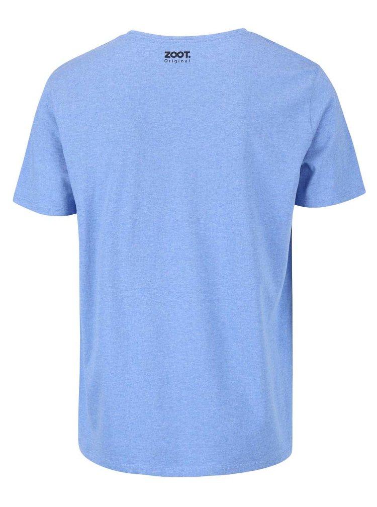 Modré pánské žíhané triko ZOOT Originál Motorka