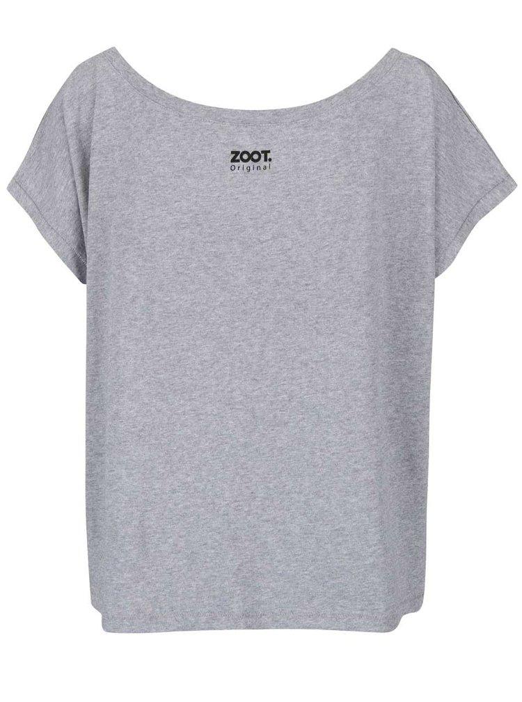 Šedé žíhané dámské oversize tričko ZOOT Originál Testosteron