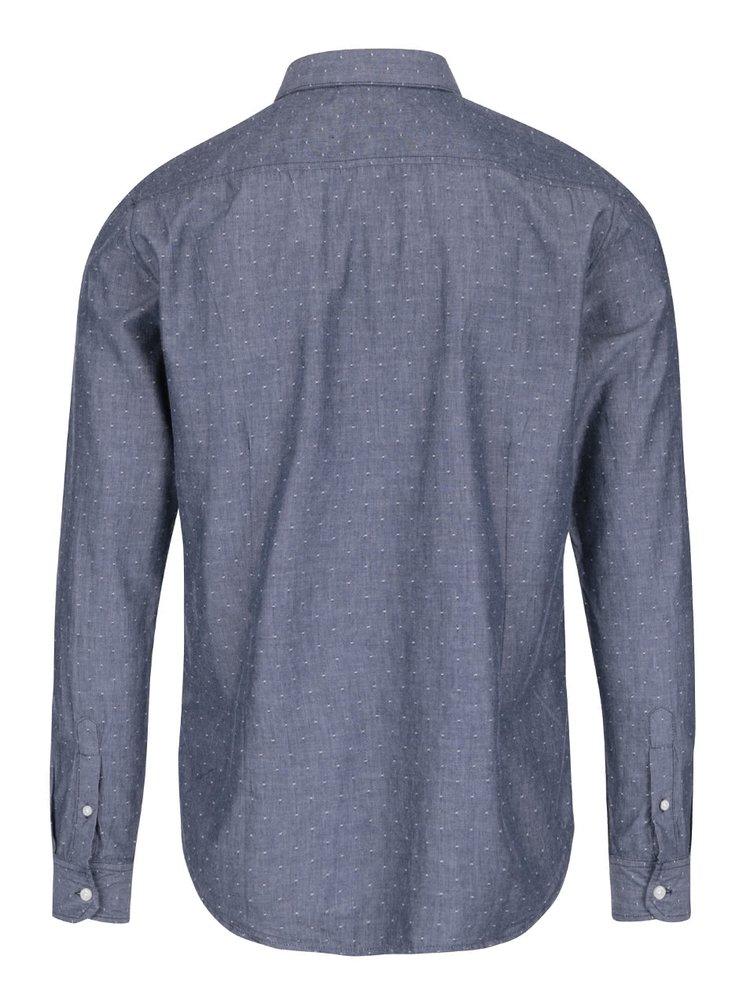 Modrosivá vzorovaná košeľa Casual Friday