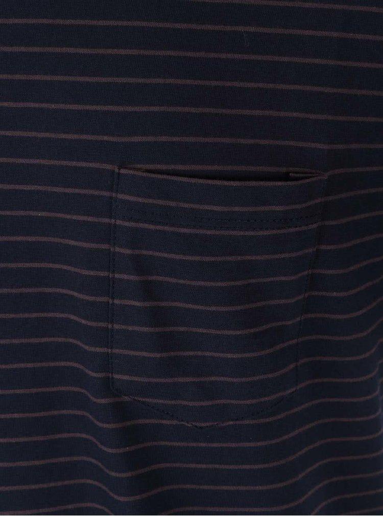 Tricou bleumarin cu dungi  Casual Friday