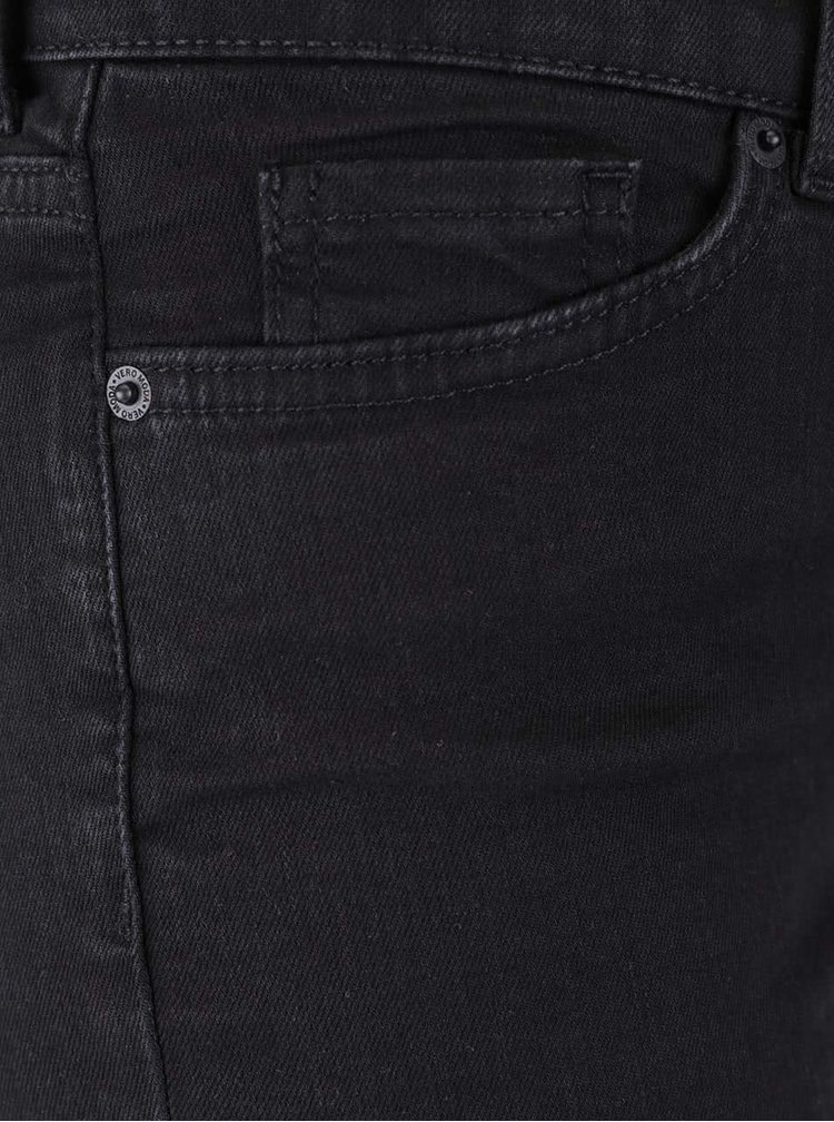 Černé straight džíny VERO MODA Fifteen