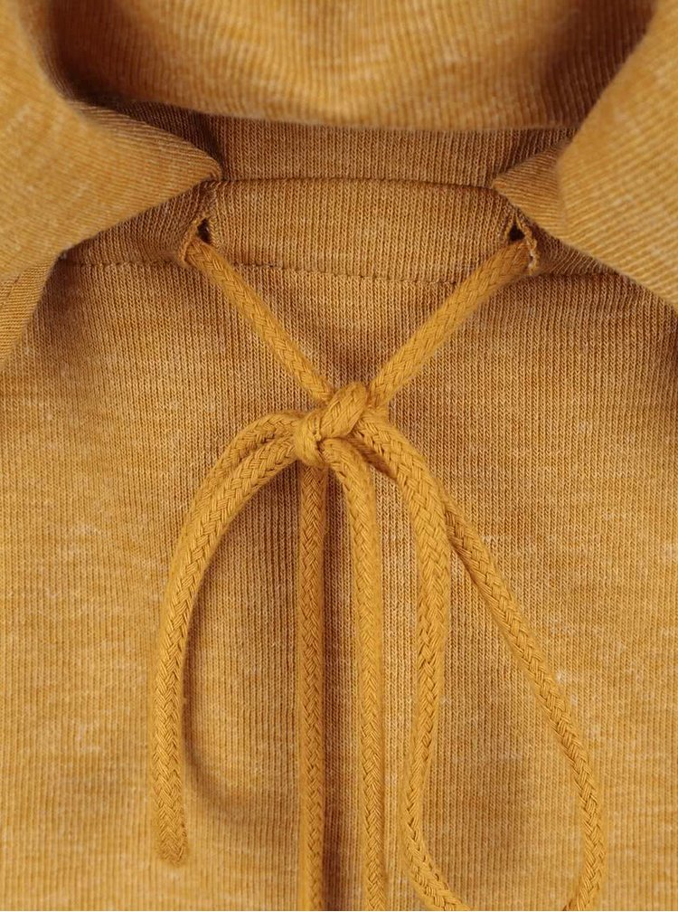 Horčicové šaty s dlhým rukávom VERO MODA Nora