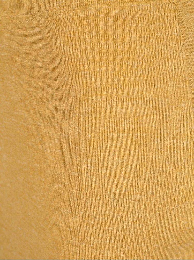 Horčicová melírovaná sukňa VERO MODA Nora
