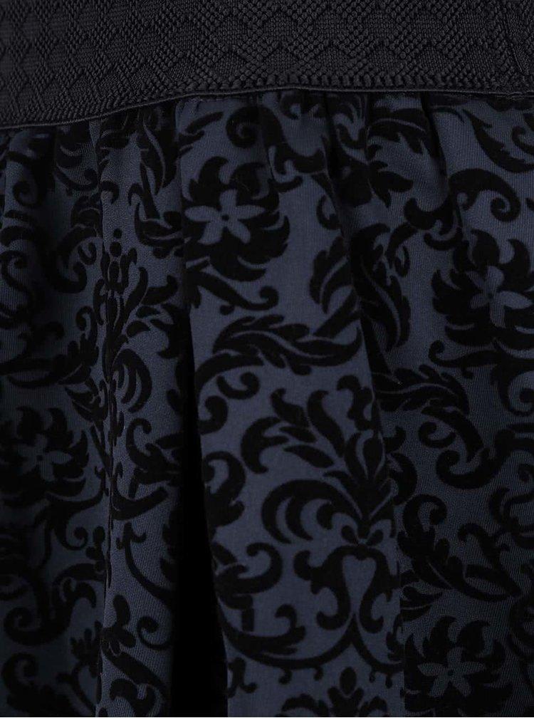 Fustă bleumarin VERO MODA Cary cu model