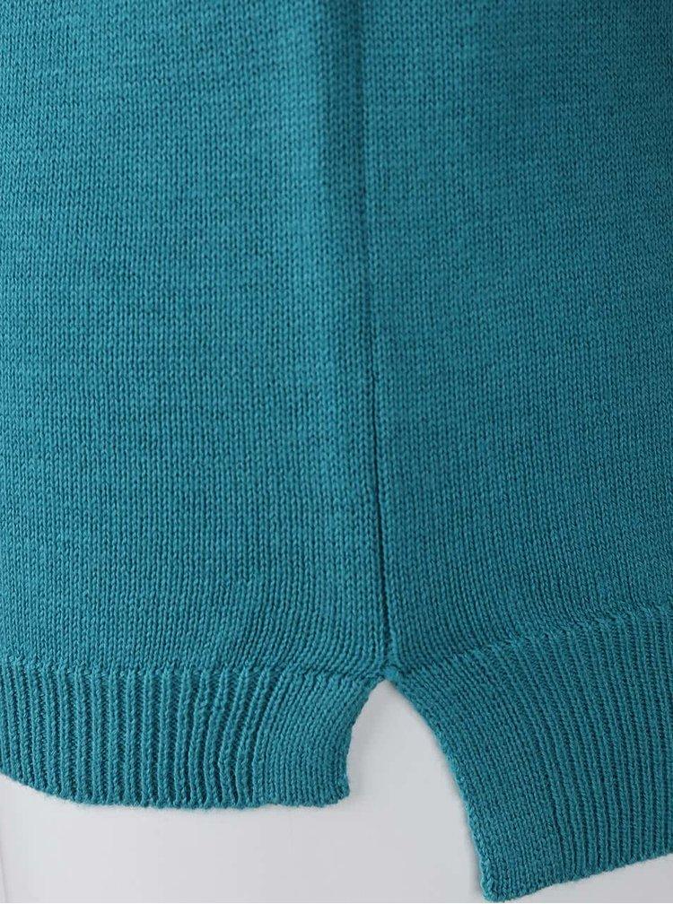 Bluză din bumbac Blue Seven turcoaz