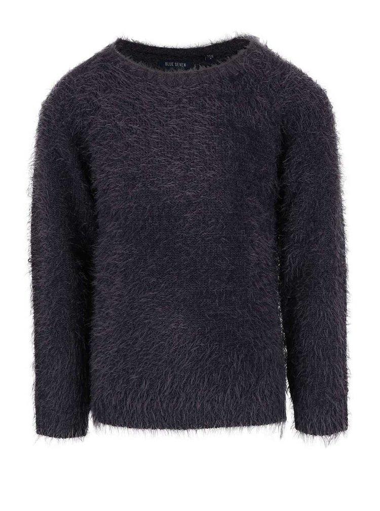 Tmavosivý dievčenský sveter Blue Seven