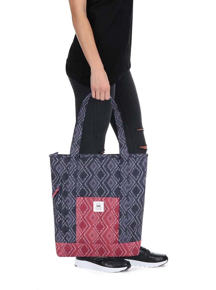 Červeno-modrá vzorovaná taška Vans Made For This