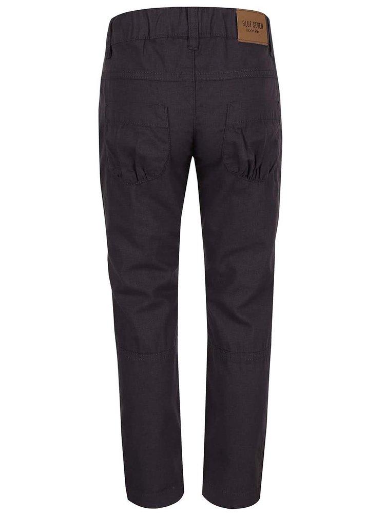 Tmavosivé dievčenské nohavice s vreckami Blue Seven