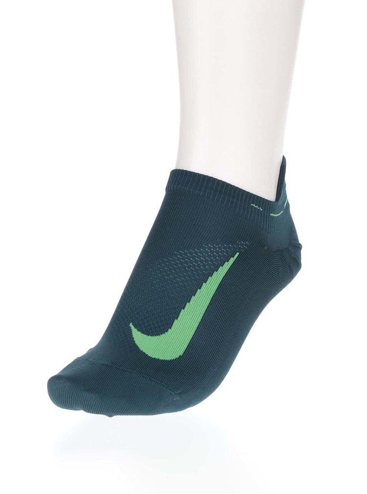 Tmavozelené unisex členkové ponožky Nike Elite Running
