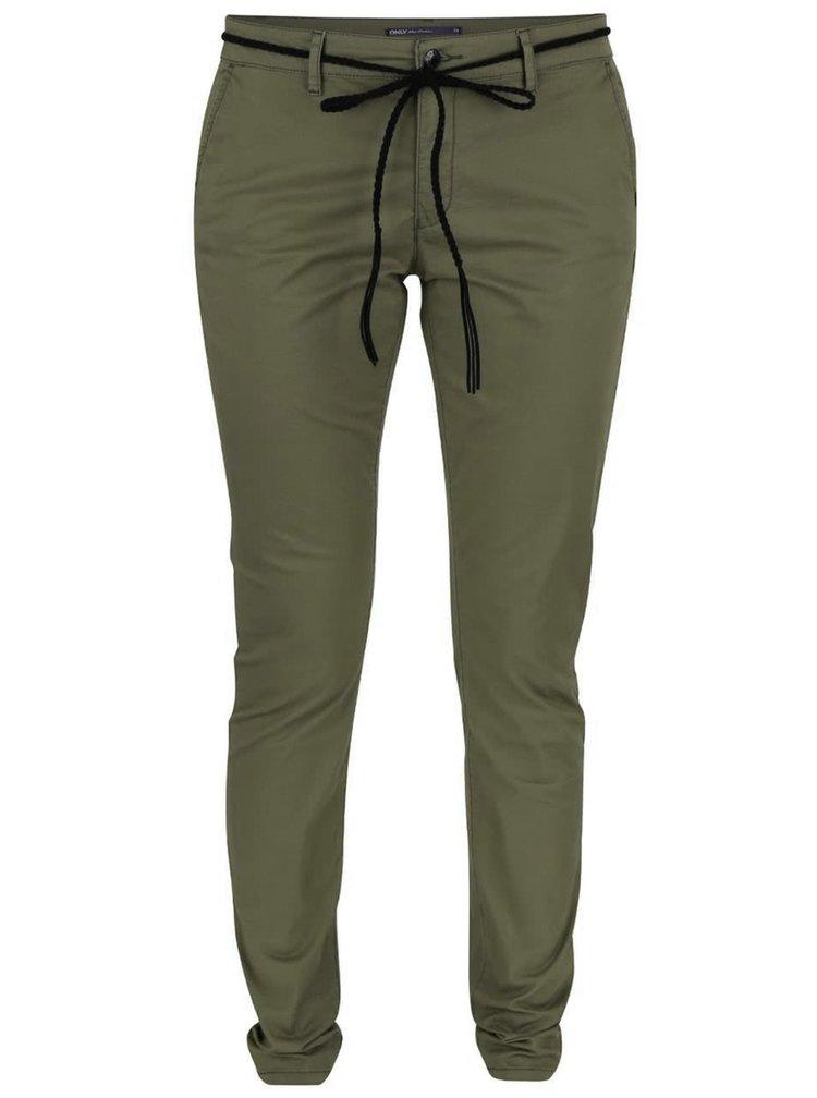 Pantaloni chino kaki ONLY Garland