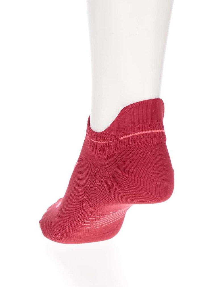 Červené unisex kotníkové ponožky Nike Elite Running