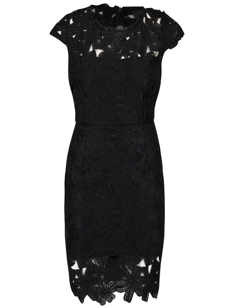 Rochie midi neagră AX Paris din dantelă