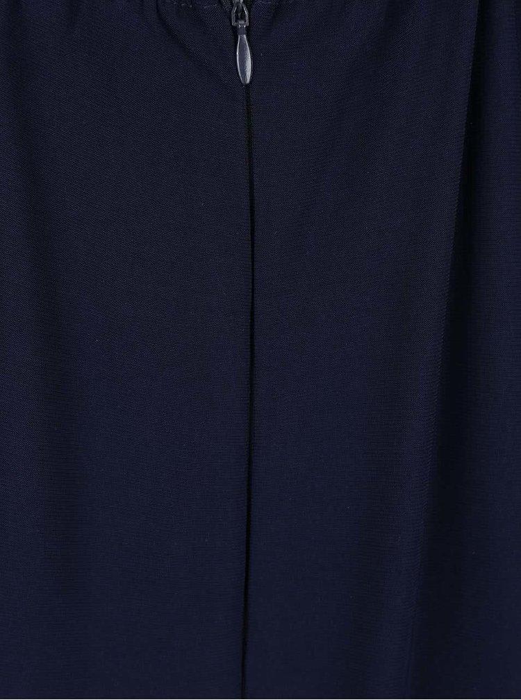 Tmavě modré maxišaty s hlubokým výstřihem AX Paris