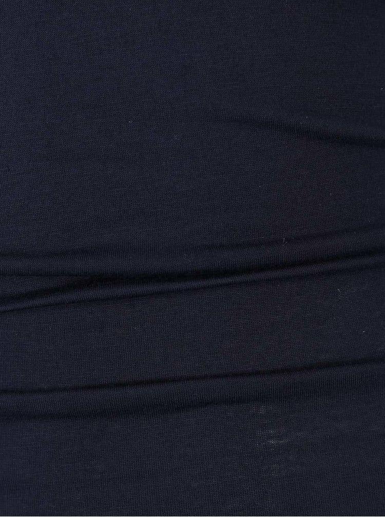 Tmavomodré šaty so stojačikom AX Paris