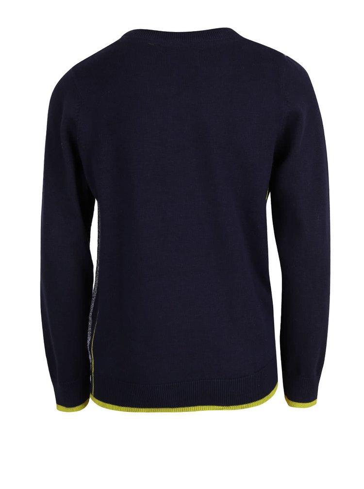 Modro-sivý chlapčenský melírovaný sveter Blue Seven