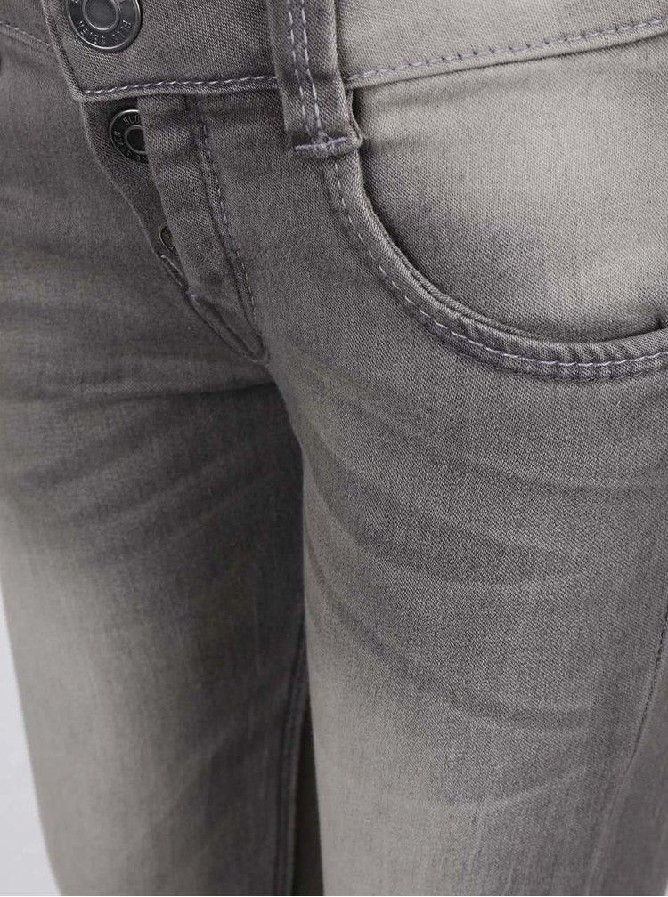 Světle šedé holčičí džíny s vyšisovaným efektem Blue Seven