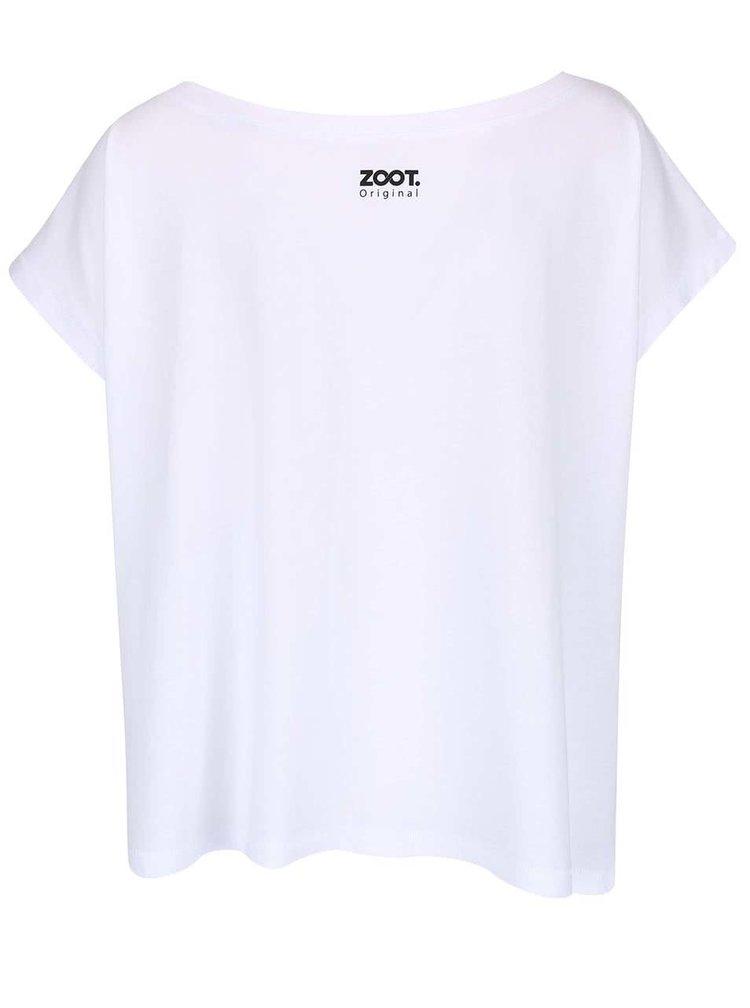 Biele dámske oversize tričko ZOOT Originál Dear Future