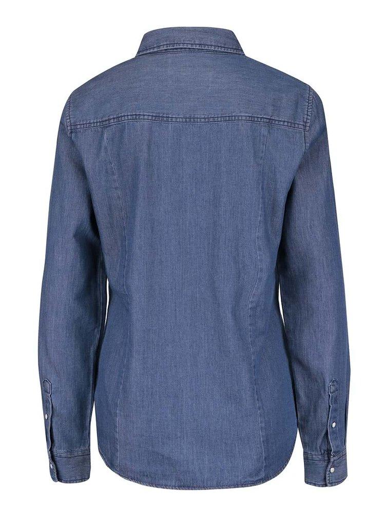 Modrá džínová košile s dlouhým rukávem VERO MODA Daisy