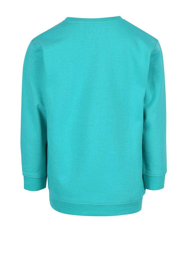 Bluză turcoaz Blue Seven din bumbac pentru fete