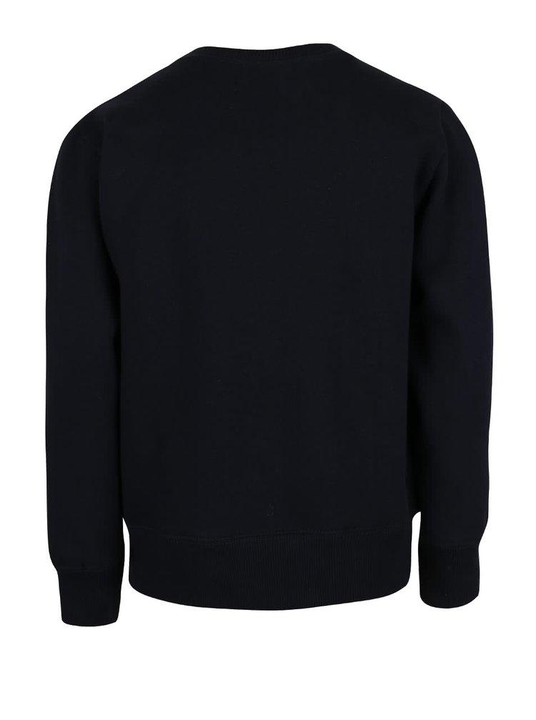 Bluză cu imprimeu Blue Seven neagră