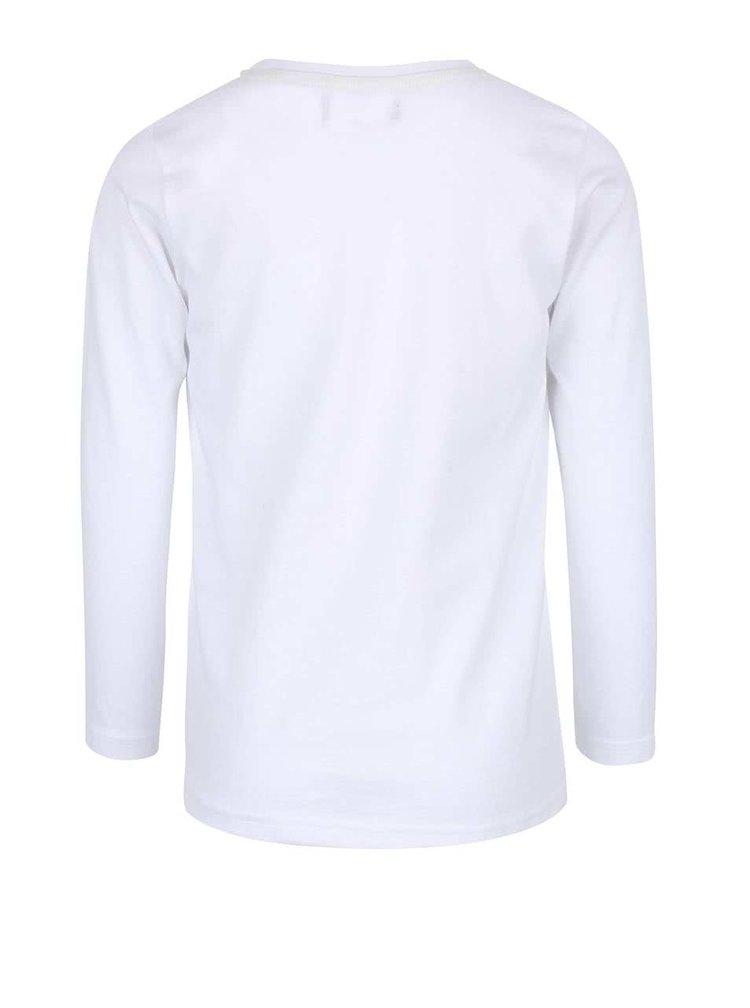 Bluză albă Blue Seven din bumbac cu imprimeu pentru băieți