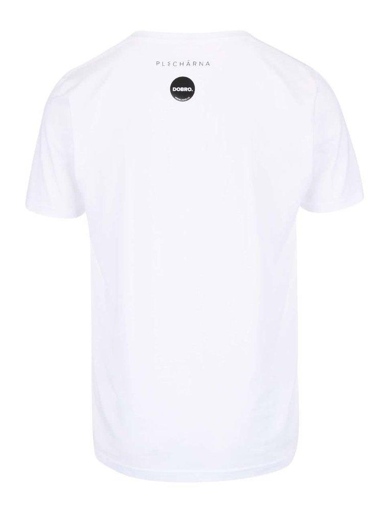 """""""Dobré"""" bílé pánské tričko pro Plechárnu"""