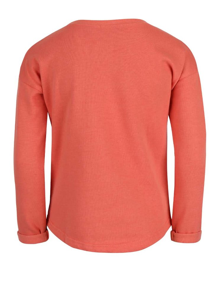 Bluză cu imprimeu Blue Seven portocalie