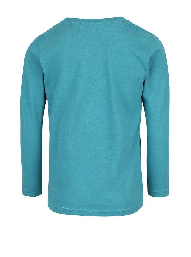Bluză albastră Blue Seven din bumbac cu imprimeu pentru băieți