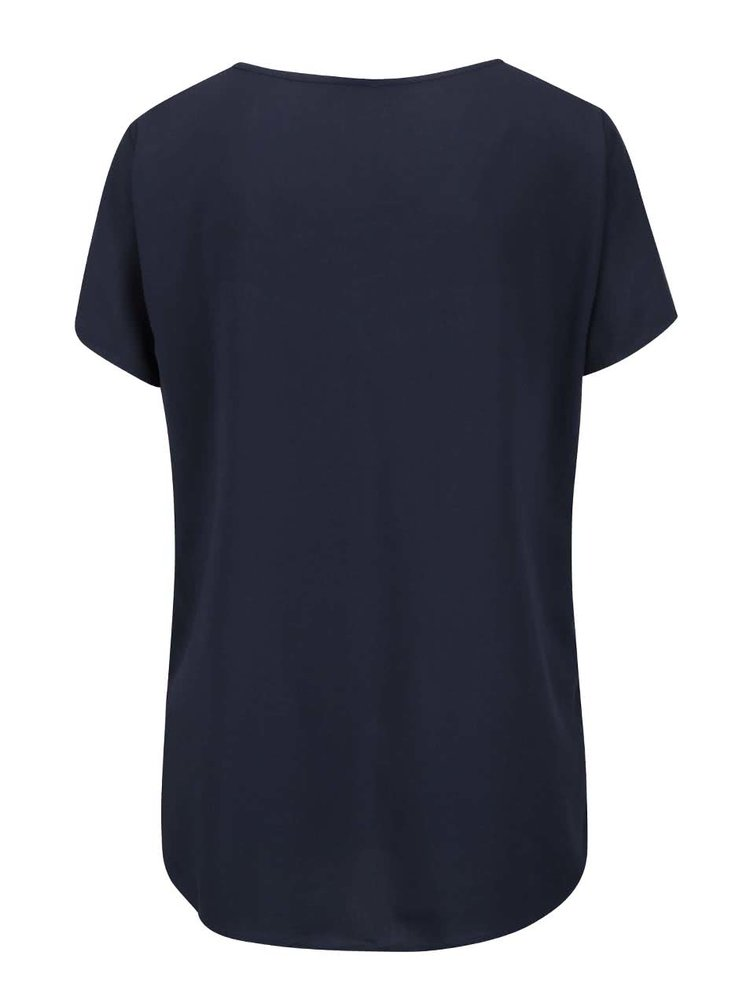Tricou bleumarin VERO MODA Tee asimetric