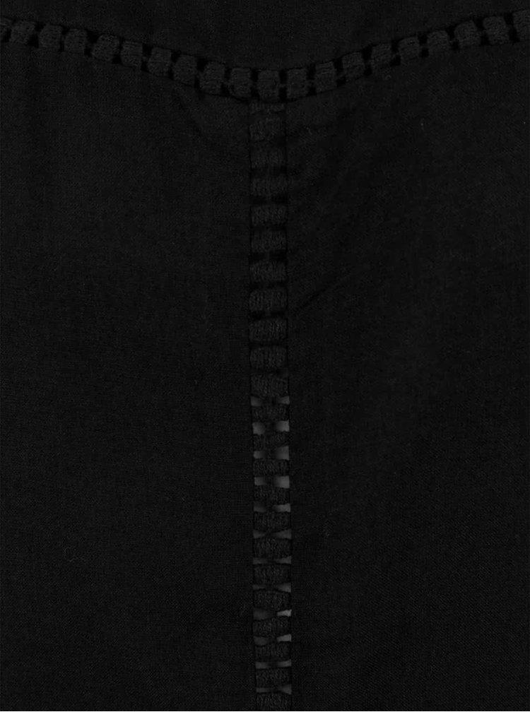Černá volnější halenka s krátkým rukávem VERO MODA Tee