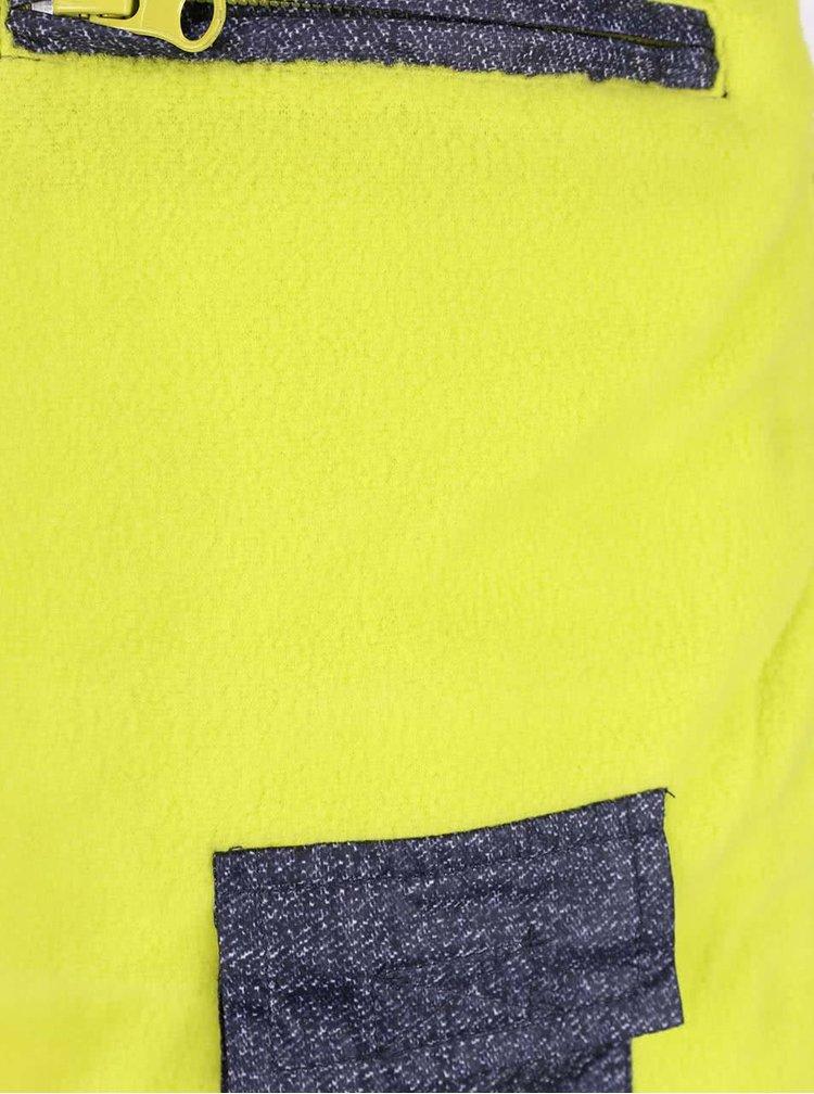 Tmavě modrá klučičí prošívaná bunda s kapucí Blue Seven
