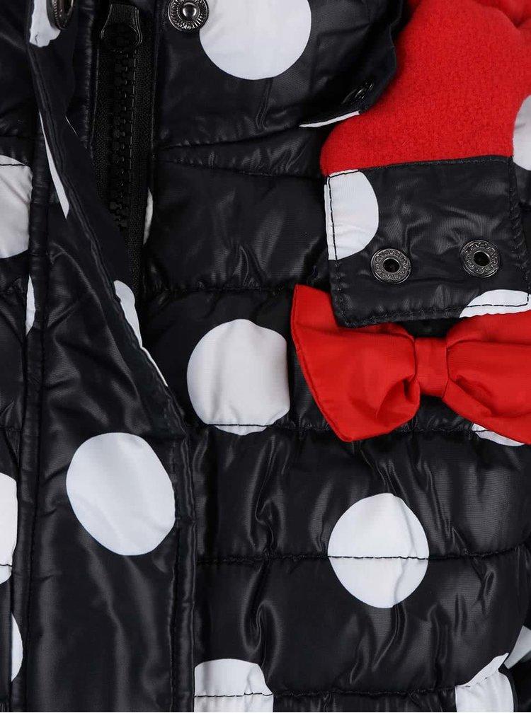 Jacheta neagra Blue Seven cu imprimeu pentru fete