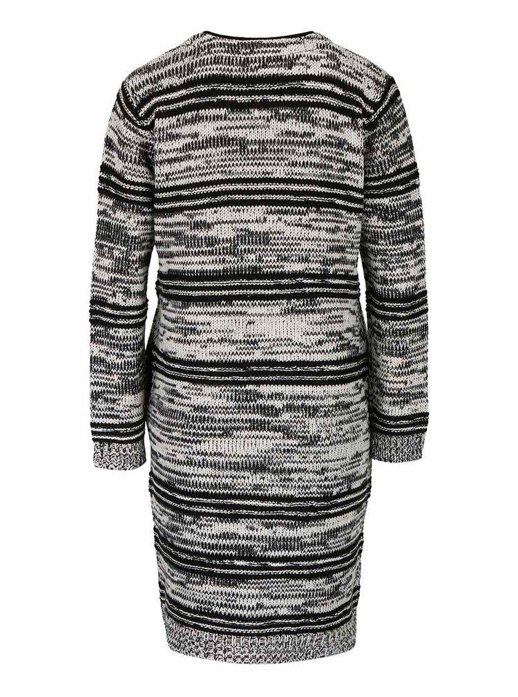Krémovo-čierny pletený kardigan Haily´s Emilia