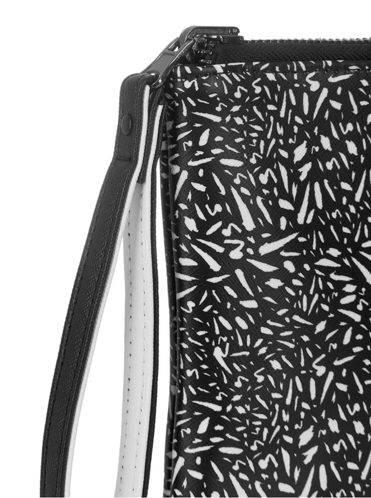 Černo-bílé oboustranné psaníčko Paul's Boutique Mini Fleur