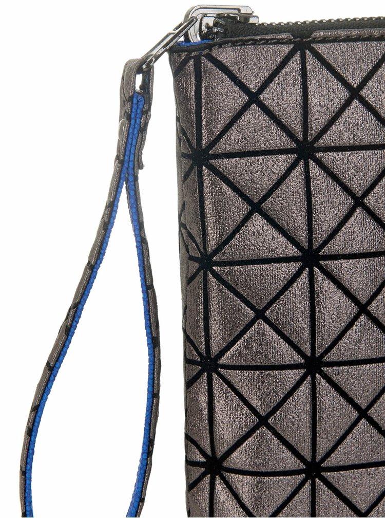 Tmavosivá metalická obojstranná listová kabelka Paul's Boutique Mini Fleur