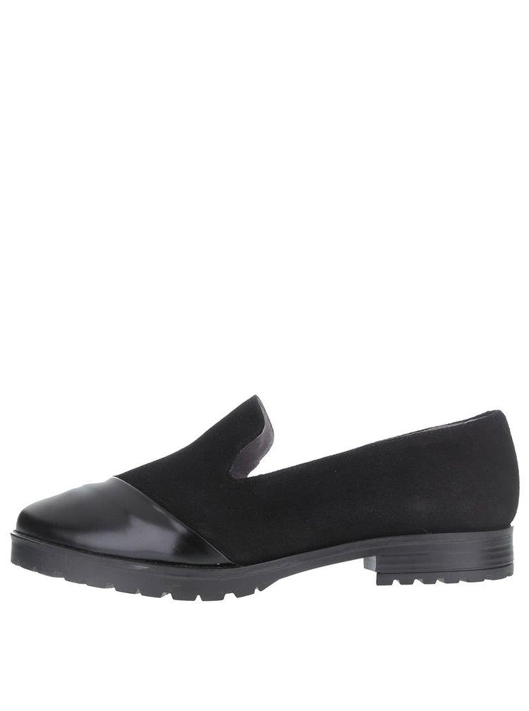 Černé semišové loafers OJJU