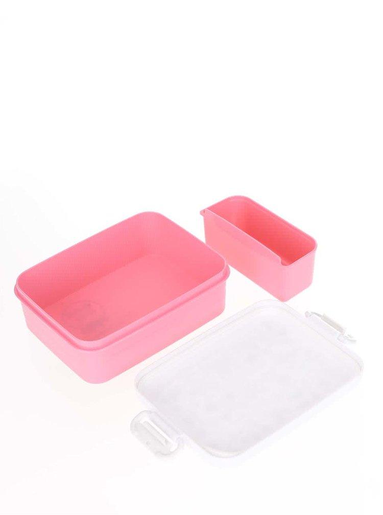 Cutie pentru gustări roz-crem Tyrrell Katz Secret Garden pentru fete
