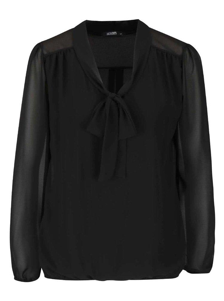 Černá halenka s vázankou Haily´s Kia