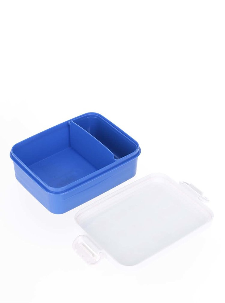 Modrý klučičí svačinový box Tyrrell Katz Working Wheels