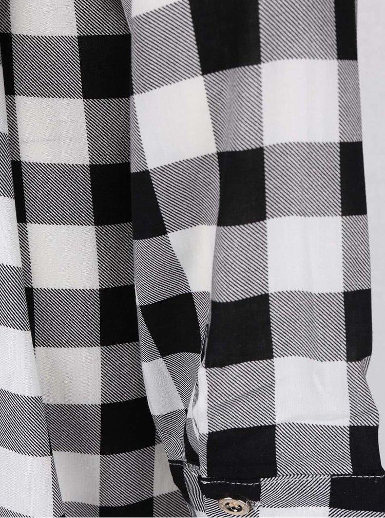 Rochie cu imprimeu cu carouri Haily´s Cathrine alb cu negru